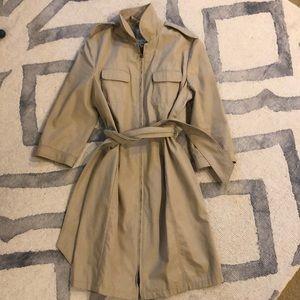Rag and bone 3/4 sleeve trench coat, classic tan
